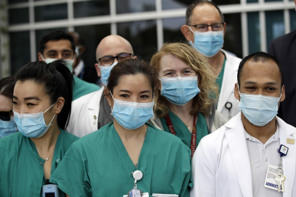 Virus Outbreak California Masks.