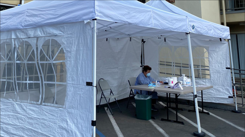 American Indian Health Covid Tent