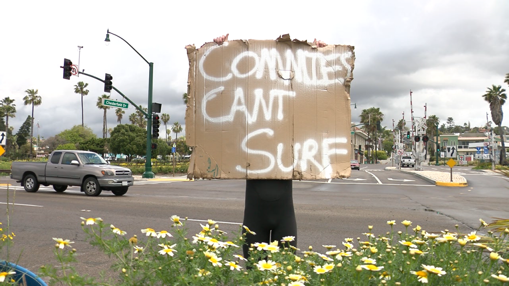 Commies Cant Surf Sign