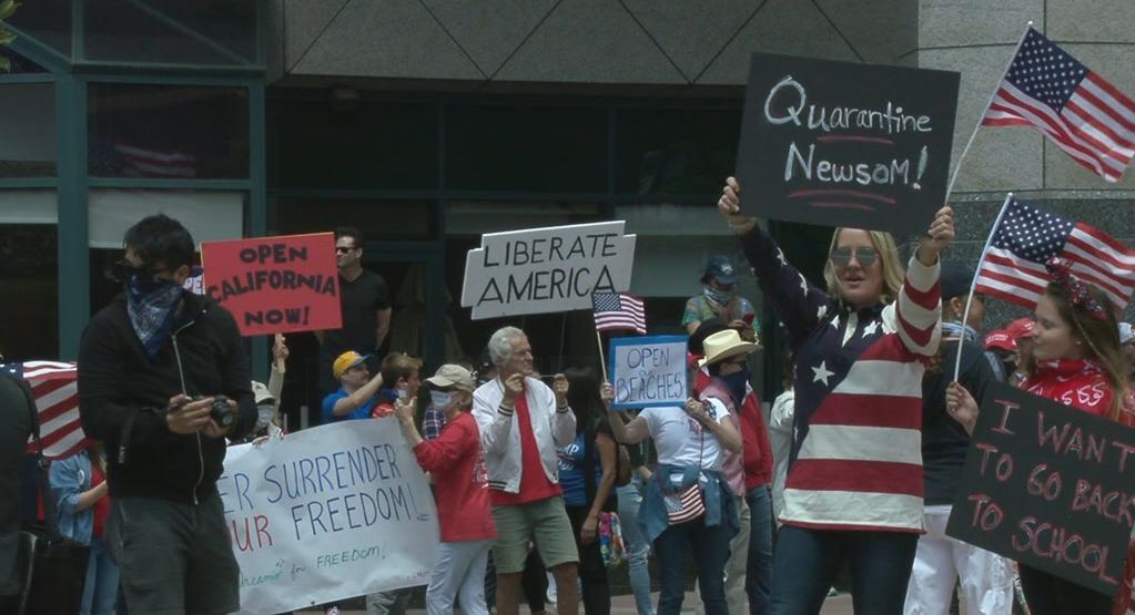 Quarantine Newsom Sign Freedom Rally