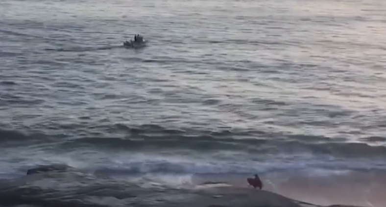 Surfer Forced Out Of Water At Windandsea Beach