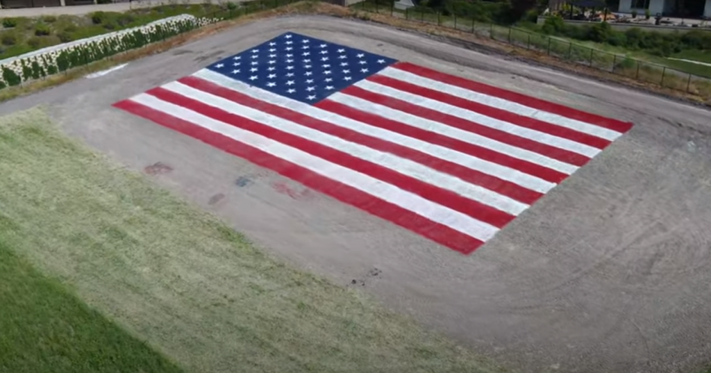 Painted American Flag Vista