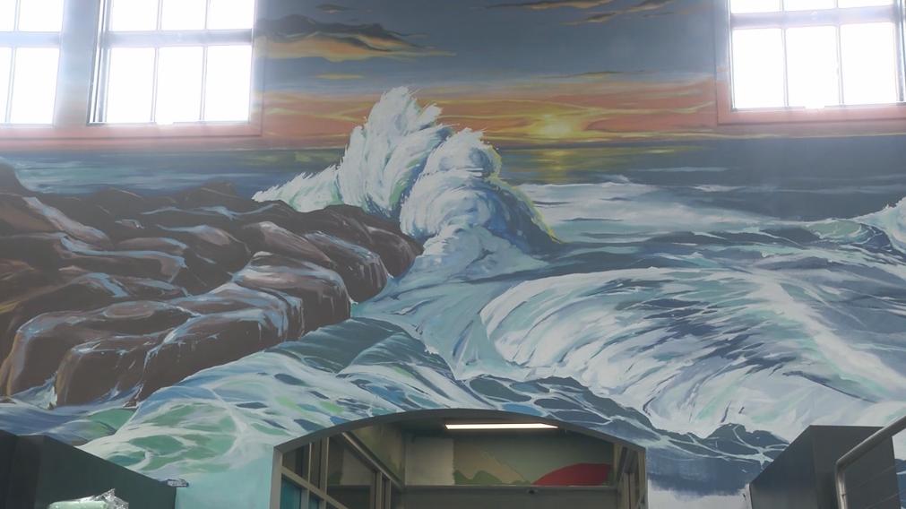 Point Loma Sports Club Mural Jack Stricker