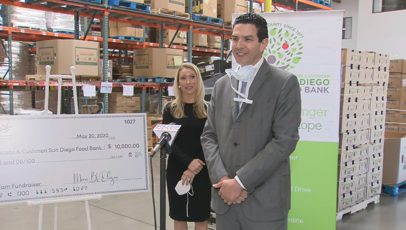 San Diego Food Bank Gets 10 Grand