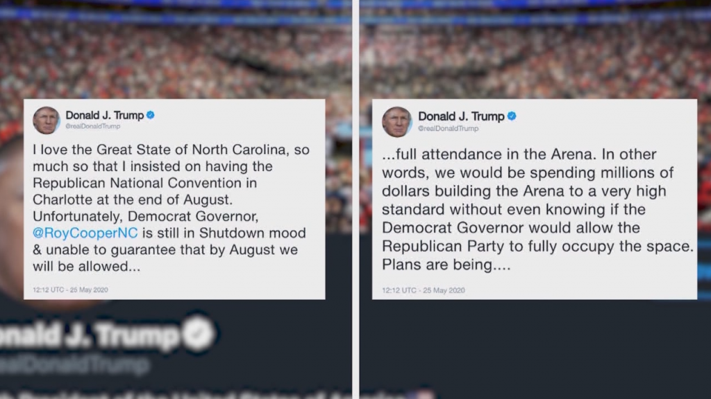 Trump Tweet Threatens To Pull Rnc From Nc