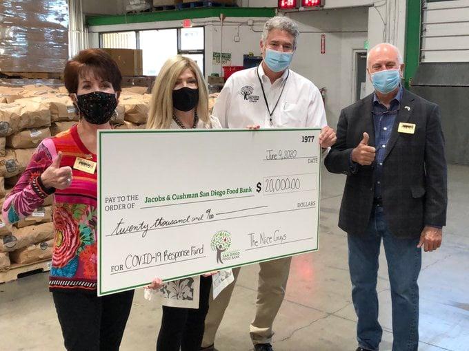 Nice Guys Donate To San Diego Food Banks