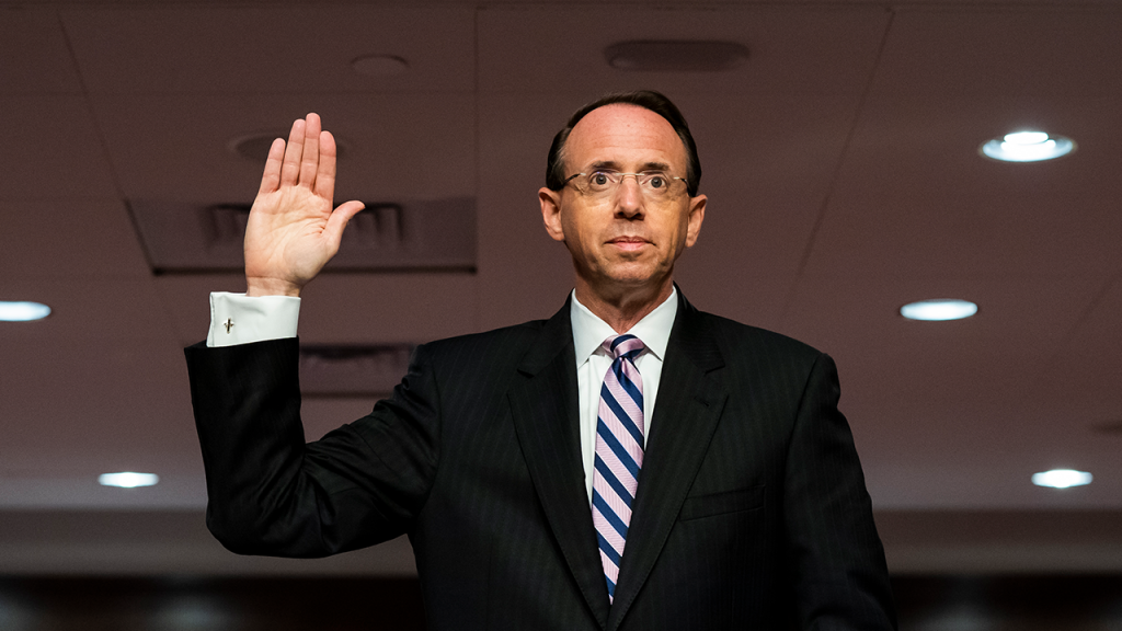Rod Rosenstein Swearing In