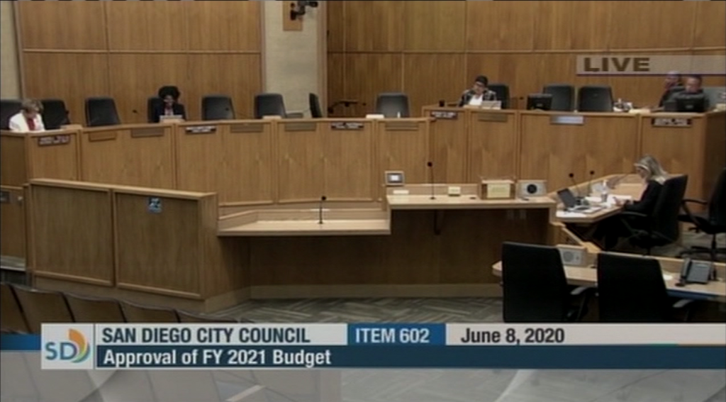 San Diego City Council Budget Meeting