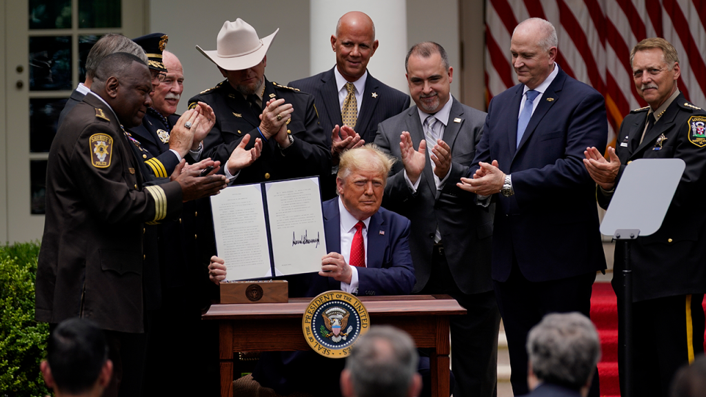 Trump Signs Executive Order To Increase Police Standards