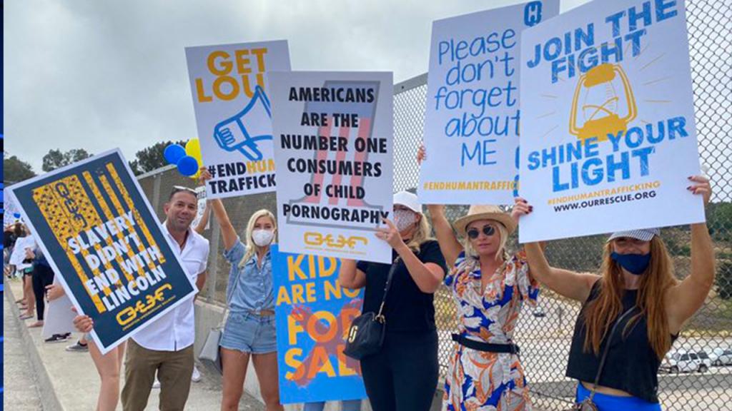 Del Mar Human Trafficking Protest