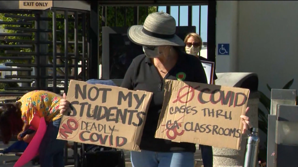 La Teachers Union Protest School Reopening