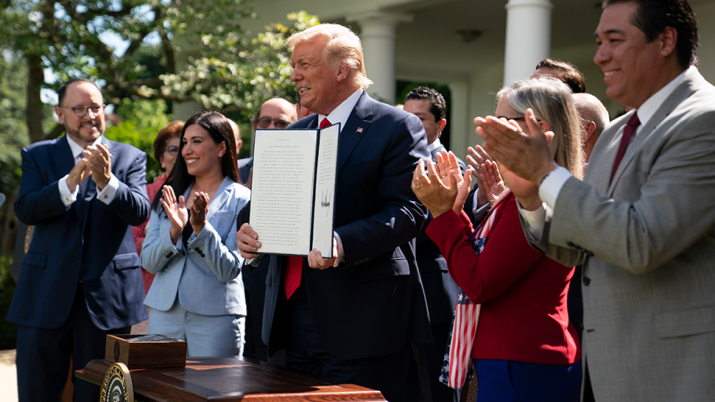 President Trump Signs White House Hispanic Prosperity Executive Order