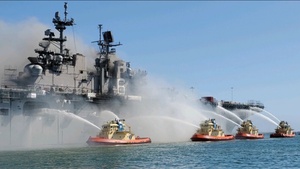 Uss Bonhomme Richard Fire