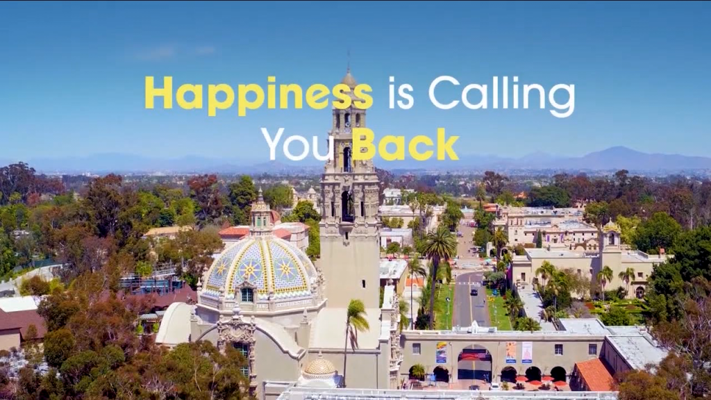 San Diego Tourism Happinness Welcomes You Back