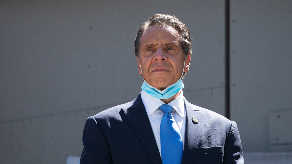 Cuomo Mask On Chin