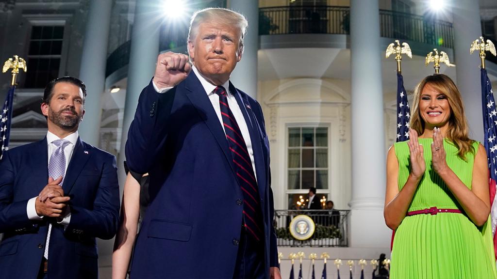 Trump Accepts Gop Nomination Fist Pump