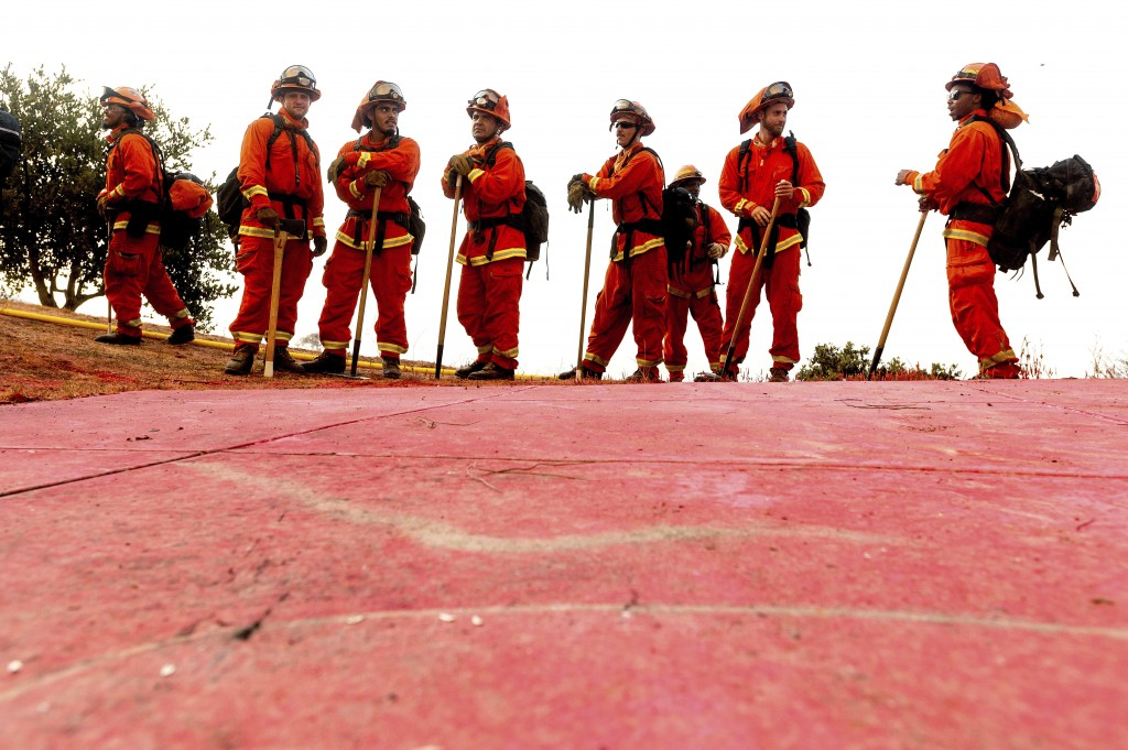 California Wildfires Inmate Firefighters