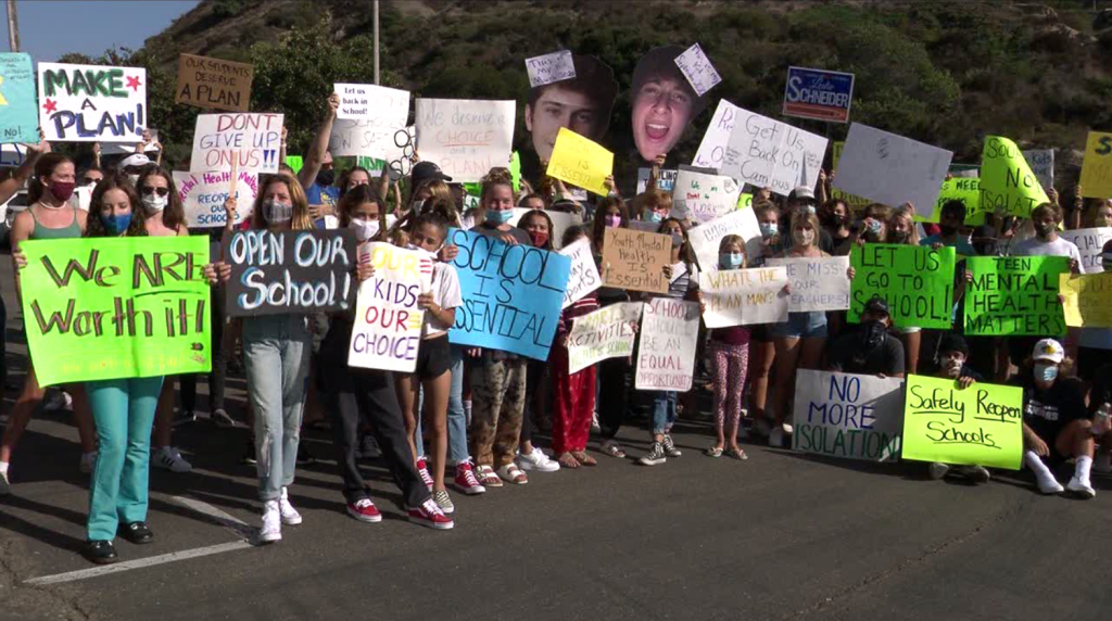 San Dieguito Union High School District Protest Covid19