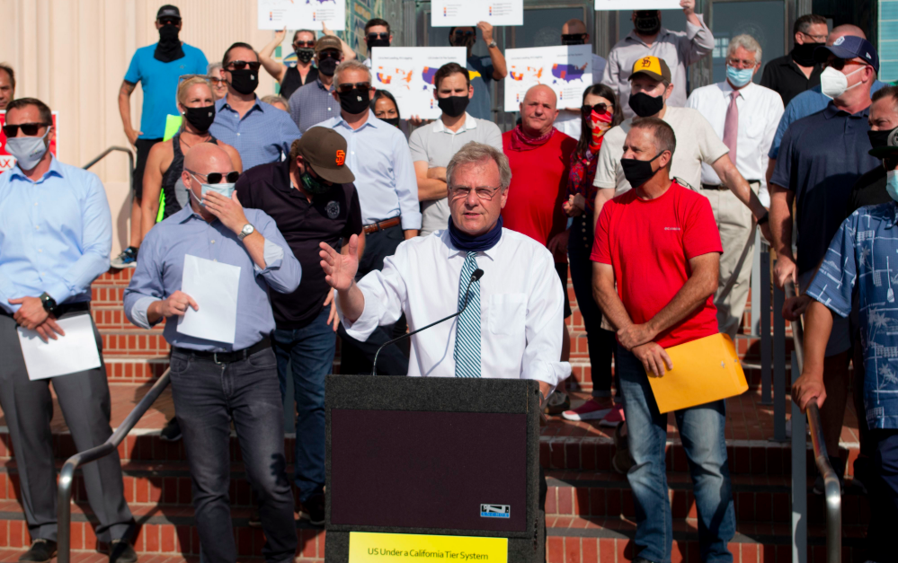 Desmond Speaks At We Mean Business Rally