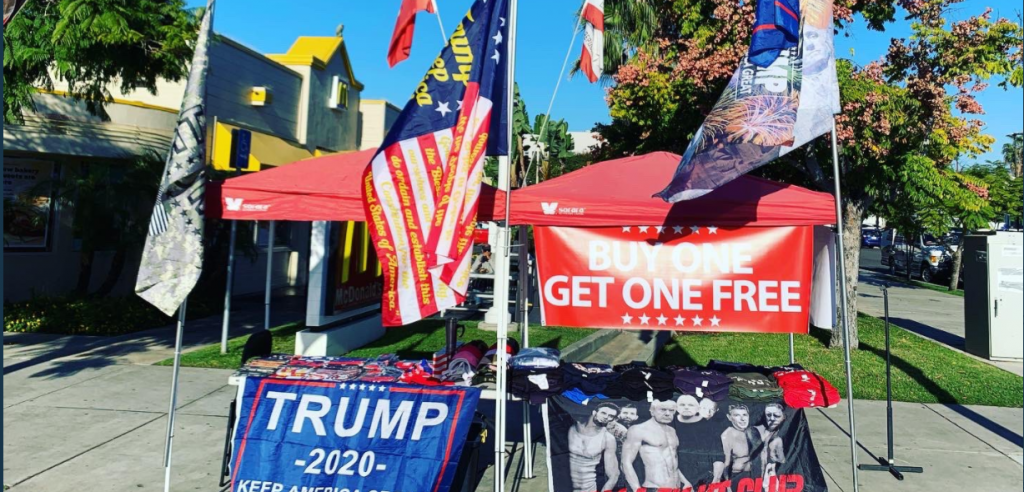 Roadside President Trump Pop Up Stands Across San Diego County