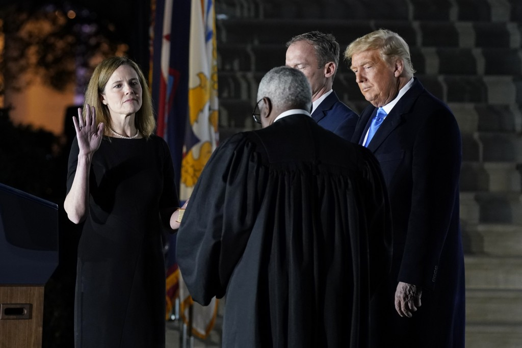 Donald Trump, Amy Coney Barrett, Clarence Thomas
