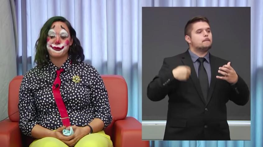 Oregon health official clown