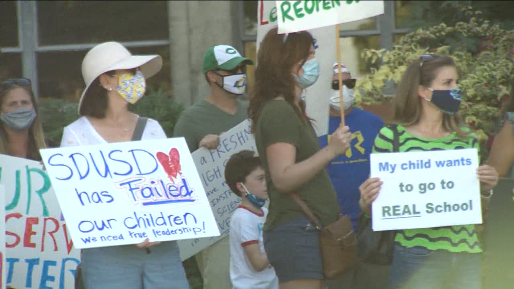 Sdusd Reopen Schools Protest