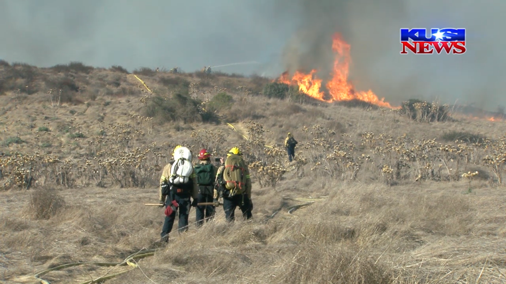 Firefighters Fight Chaparral Fire