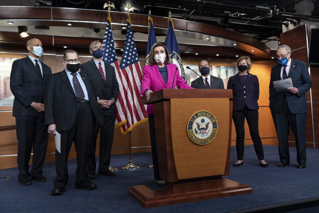 Nancy Pelosi, Chuck Schumer, David Cicilline, Jerry Nadler, Jeff Merkley, Cory Booker, Mark Takano, Tammy Baldwin