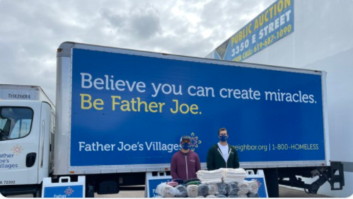 One For One Clothing Company Donates To Father Joes Villages