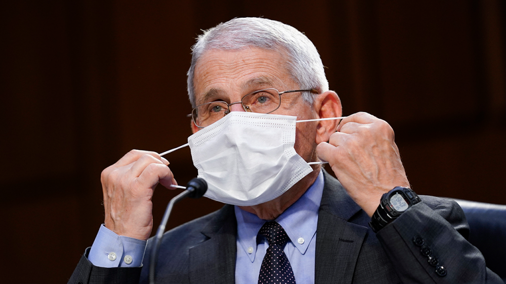 Fauci Taking Off His Mask