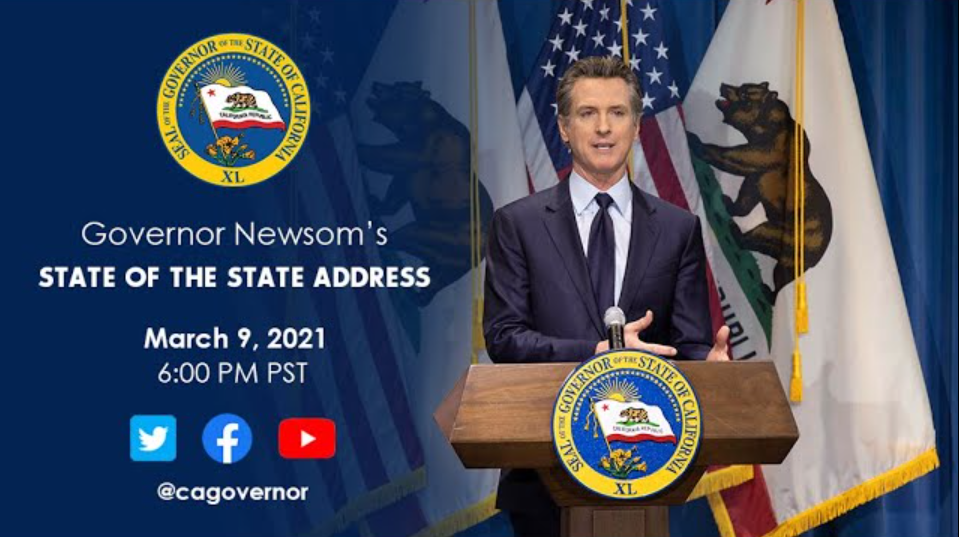 Gavin Newsom State Of The State Address Board