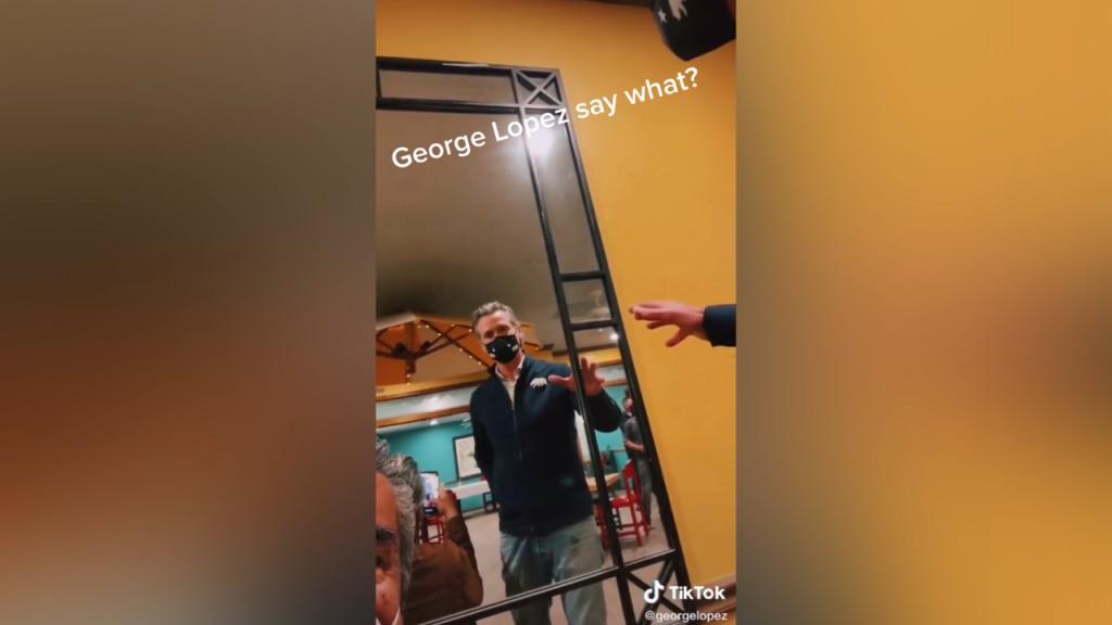 Newsom George Lopez Tik Tok