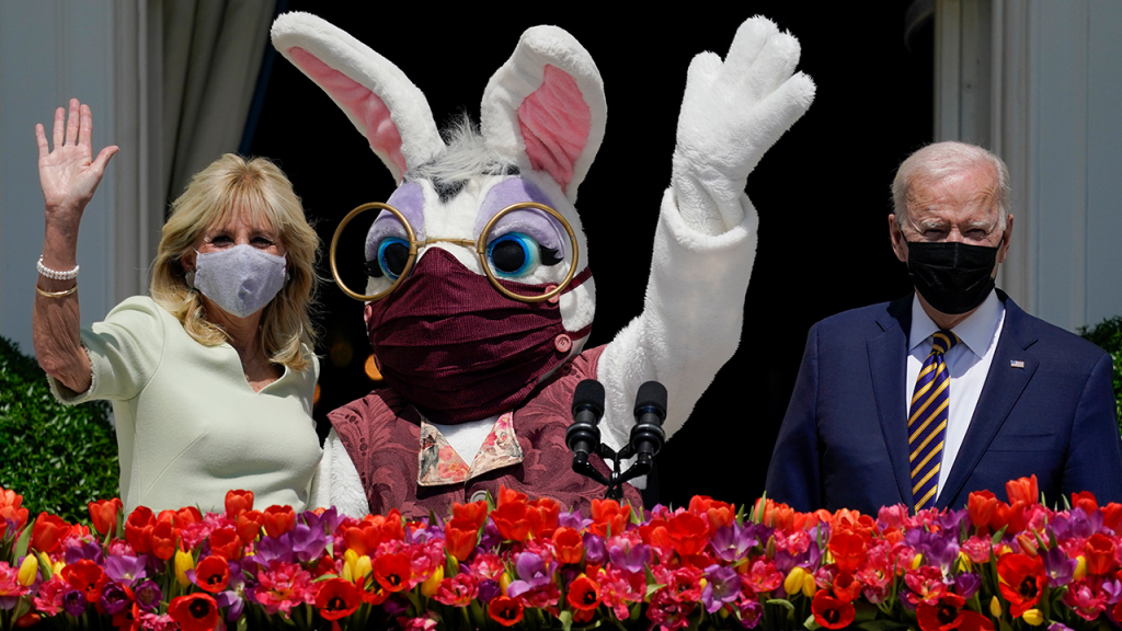 Biden Easter Bunny With Mask