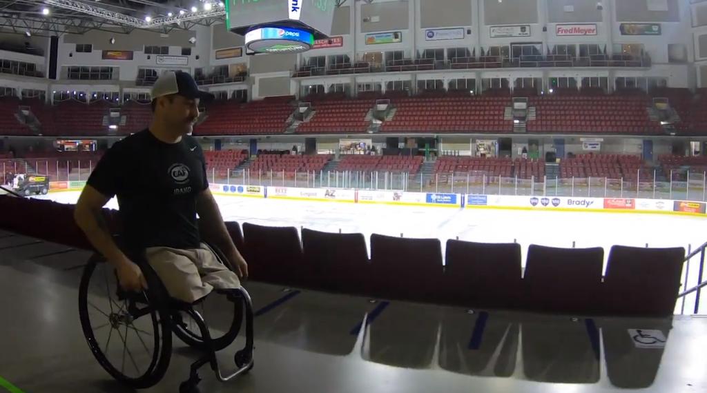 Josh Sweeney In Wheelchait