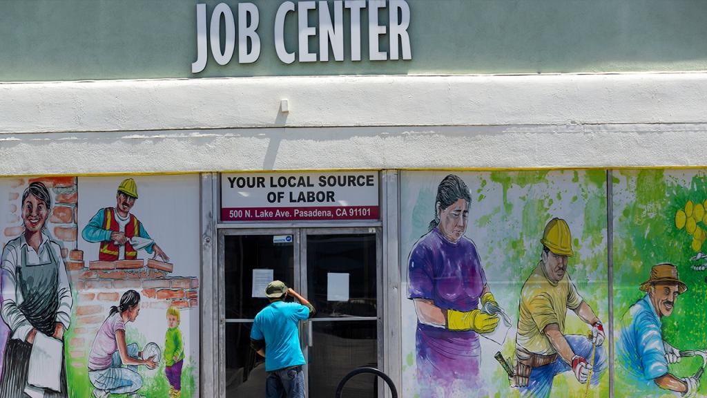 Job Center Person Outside