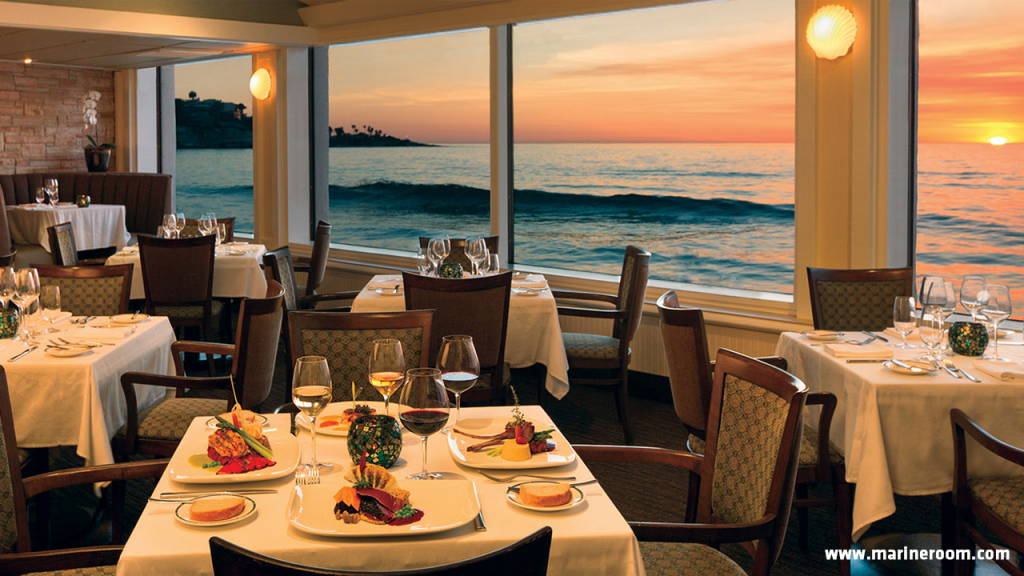 Marine Room Dining Sunset