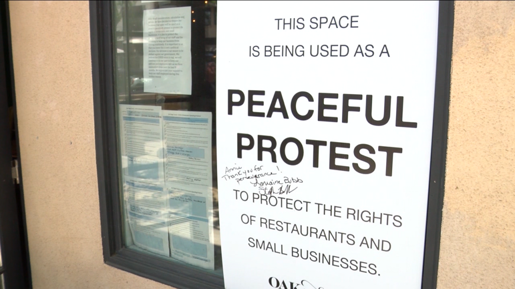 Peaceful Protest Sign Carlsbad