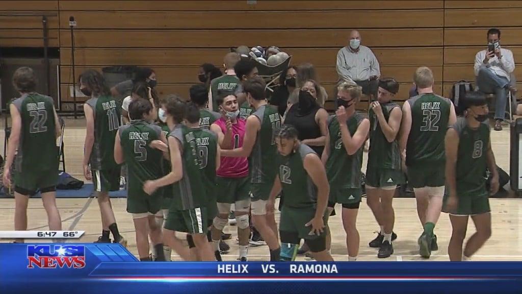 D2 Volleyball: Ramona 3, Helix 2
