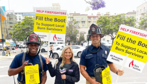 The Burn Institute 22nd Annual 'fill The Boot' Firefighter Boot Drive