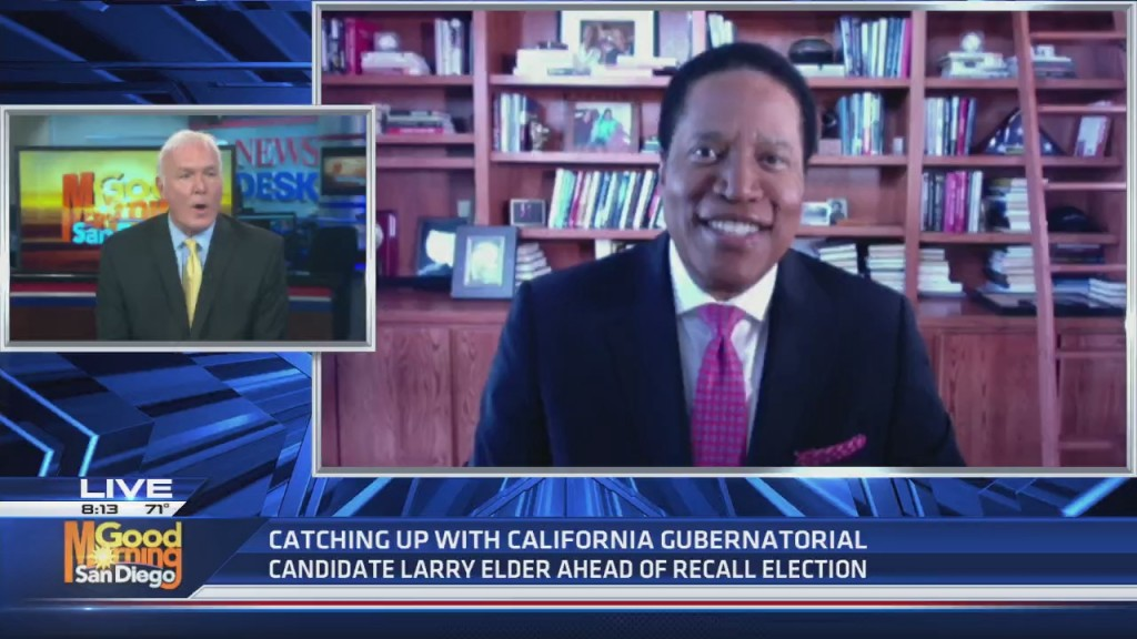 California Gubernatorial Candidate Larry Elder Discusses Campaign Ahead Of Recall Election