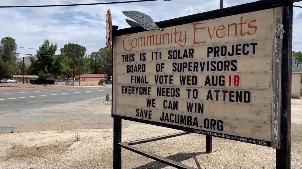 Jacumba Community Event Board