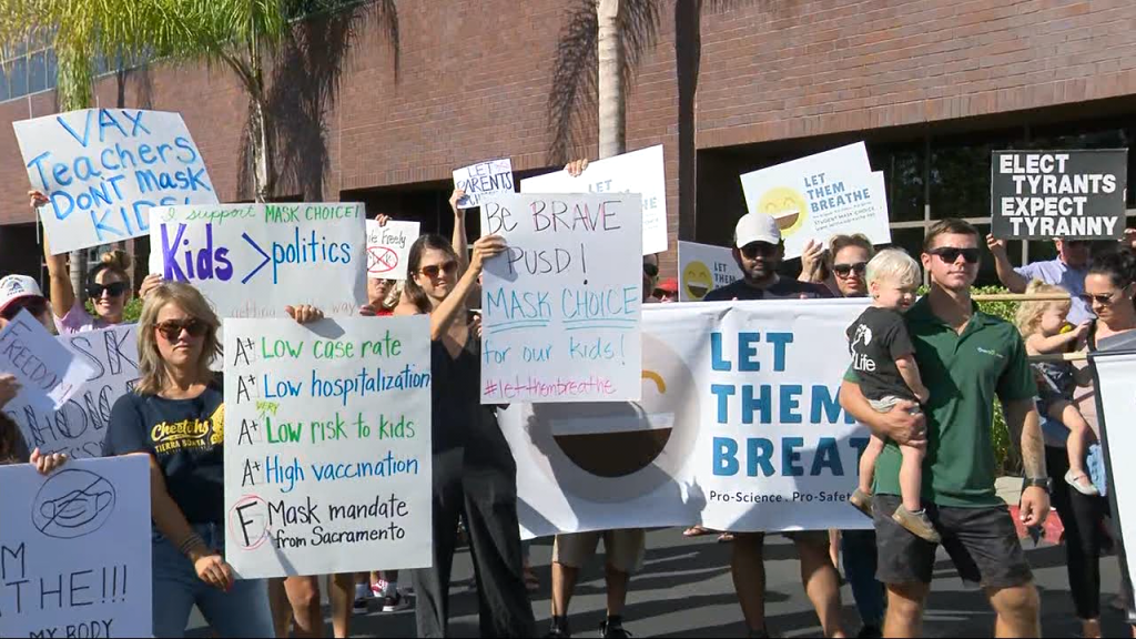 Poway Anti Mask Rally Schools