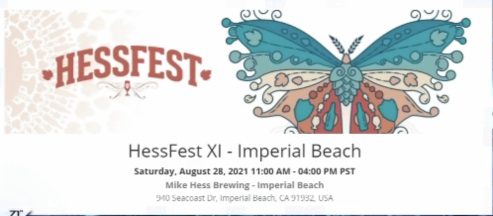 The 11th Annual Hessfest Will Be Held In Imperial Beach, Ca On August 28th