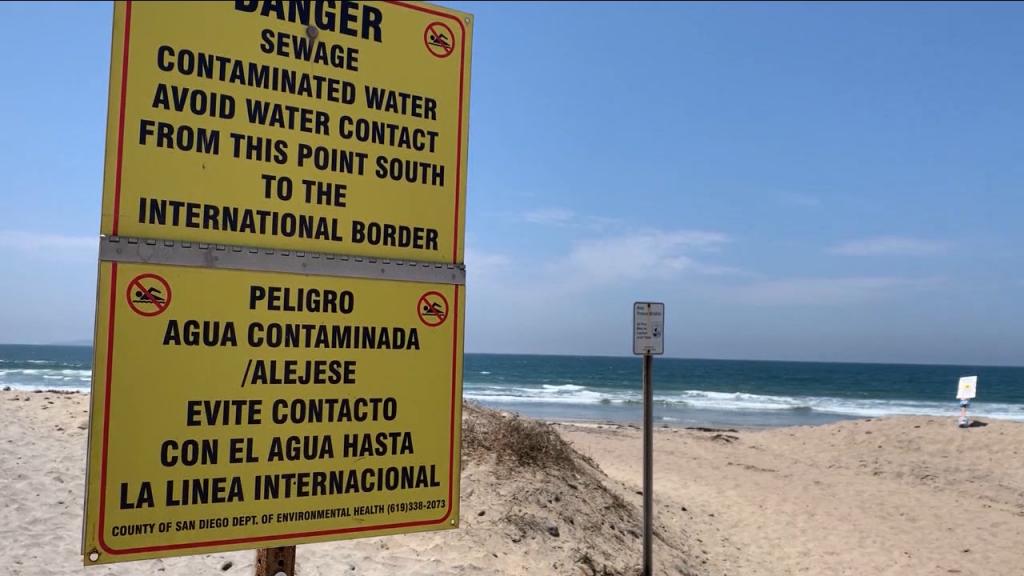 Danger Sewage Contamination Sign