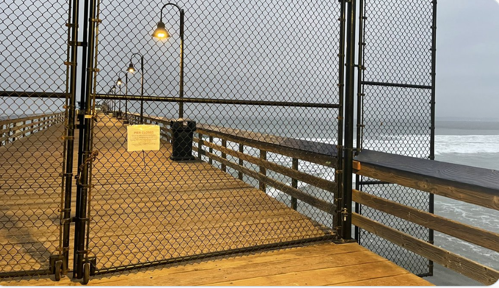 Structural Damage Forces A Temporary Closure Of The Imperial Beach Pier
