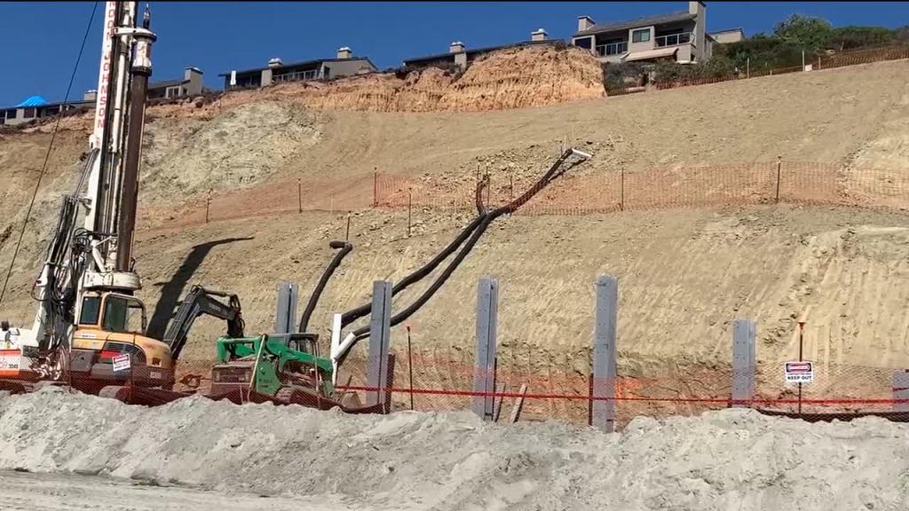 Del Mar Beach Heavy Machinery