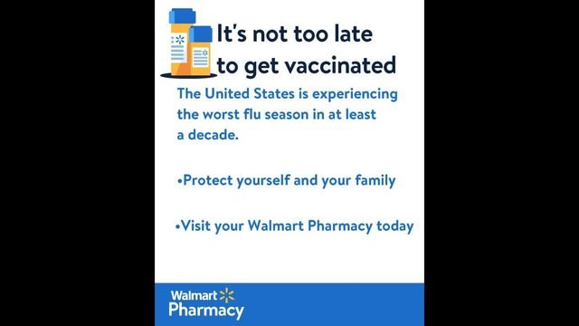 Walmart offering flu shots in midst of widespread outbreak