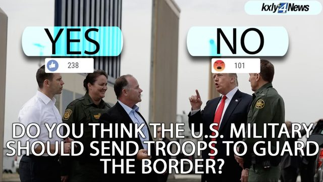 President Trump surprises military with plan to put troops on border