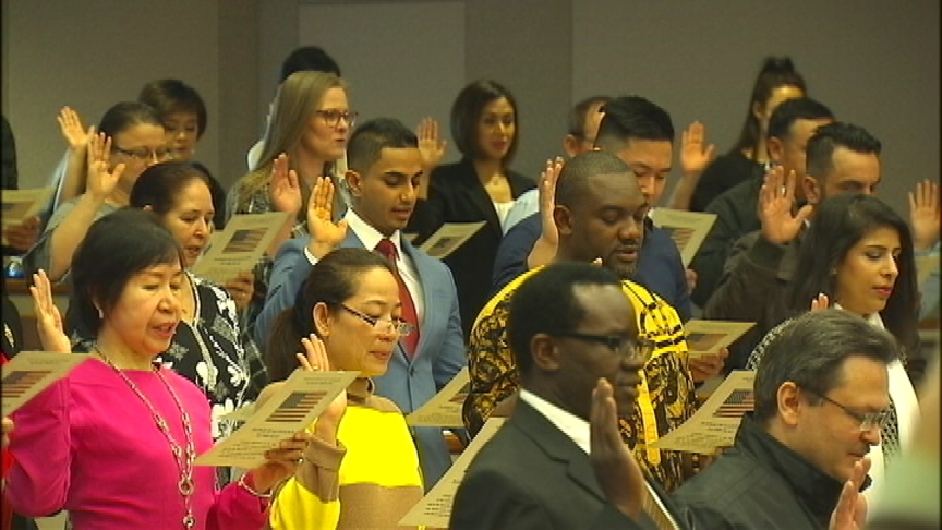 Gonzaga's School of Law hosts naturalization ceremony for 60 new citizens